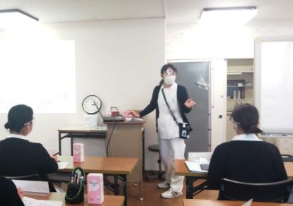 感染防止の講義の様子
